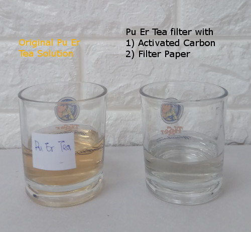 Remove Colourant from Solution