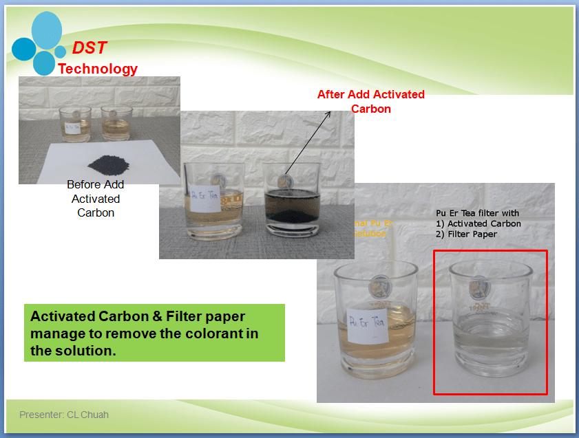 Remove Colorant in solution