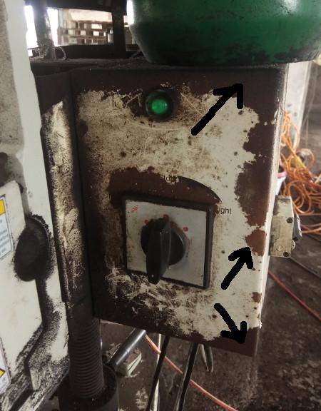 Metal Rust on Casing